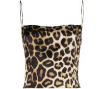 'Sakai' Top mit Leoparden-Print