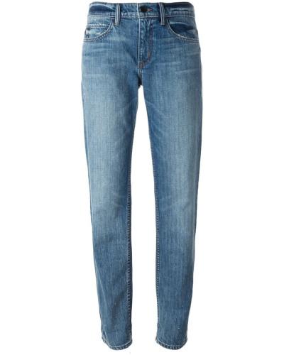 Boyfriend-Jeans mit Waschung