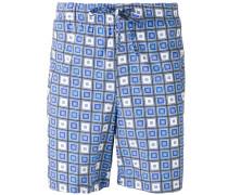 Gemusterte Lounge-Shorts mit Kordelzug