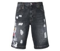 - Jeans-Shorts mit Tigerstickerei - men