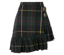 asymmetric tartan skirt