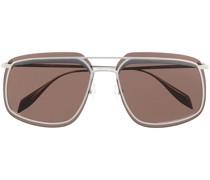 Eckige Sonnenbrille mit Totenkopf