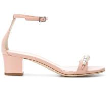 rhinestone pearl embellished sandals