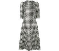 Gepunktetes Kleid mit Hahnentrittmuster - women
