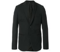 Vocabulary embroidered blazer