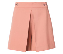 High Waisted pleat front shorts
