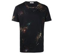 T-Shirt mit Feuerwerks-Print
