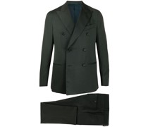 double-breasted wool suit