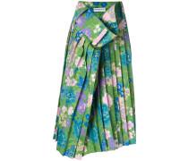 Tubular floral print skirt