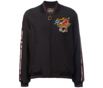 embroidered cavalli cats bomber jacket