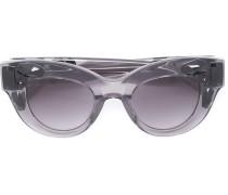Verzierte Cat-Eye-Sonnenbrille mit Schildpattoptik