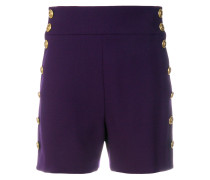 high-waisted buttoned shorts