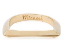 'Bar' Ring aus 18kt vergoldetem Rhodium