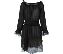 Plissiertes Kleid mit metallischen Details