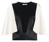 two-tone cape effect jacket