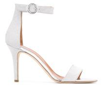 Stiletto-Sandalen mit Glitter-Optik