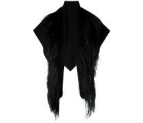 Dreieckiger Schal mit Fellbesatz
