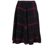 checked flared skirt