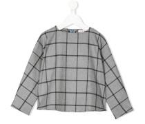 Pullover mit Windowpane-Karomuster