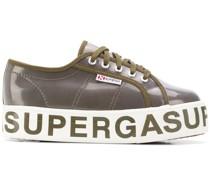 Plateau-Sneakers mit Logo
