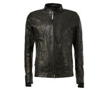 Jacke aus Lammleder mit Reißverschluss