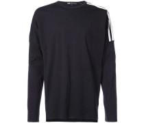 striped shoulder sweatshirt