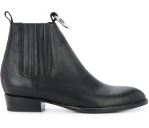 Chelsea-Boots mit silberfarbenem Ring