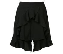 ruffled slit shorts