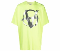 T-Shirt mit Anarchy-Print