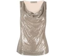 Bluse mit Glitter-Optik
