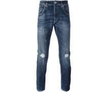 'Conway' Jeans in Distressed-Optik