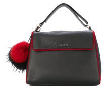 Handtasche mit Pompons
