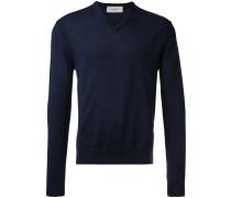 Wollpullover mit V-Ausschnitt - men - Wolle