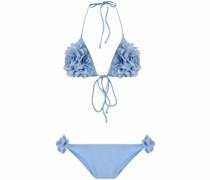 Neckholder-Bikini mit Rüschen