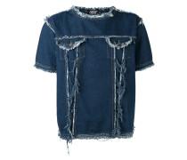 Jeans-T-Shirt mit Fransen