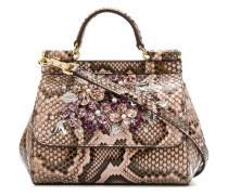 Mini 'Sicily' Handtasche aus Schlangenleder