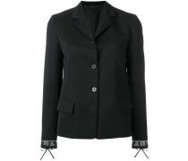 layered cuff blazer