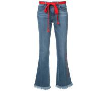 Bootcut-Jeans mit ausgefranstem Saum - women