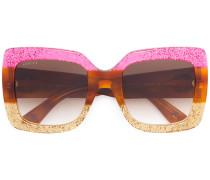 Oversized-Sonnenbrille mit Logo - unisex
