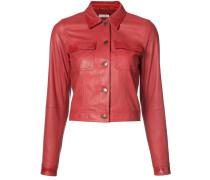 - Cropped-Jacke aus Leder - women - Leder - 2
