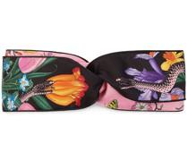 Kopfband mit Blumen- und Schlangen-Print