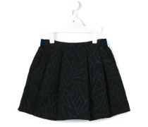 metallized embroidered skirt