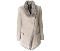 Shearling-Jacke mit asymmetrischem Reißverschluss