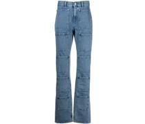 Ausgestellte High-Rise-Jeans