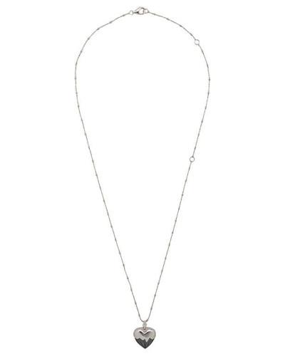 'Onyx' Halskette mit Herz