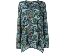 Tahiti Print Silk Top