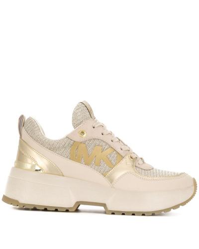 Plateau-Sneakers in Metallic-Optik