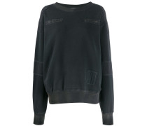 Sweatshirt im Patchwork-Look