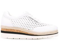 - Perforierte Sneakers mit Schnürung - women