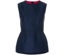 panelled peplum blouse